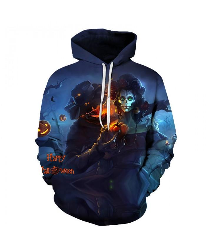 Halloween Witch 3D Print Hoodies Men Hoody Harajuku Hoodie Streatwear Sweatshirt Tracksuit Pullover Hip Hop Dropship