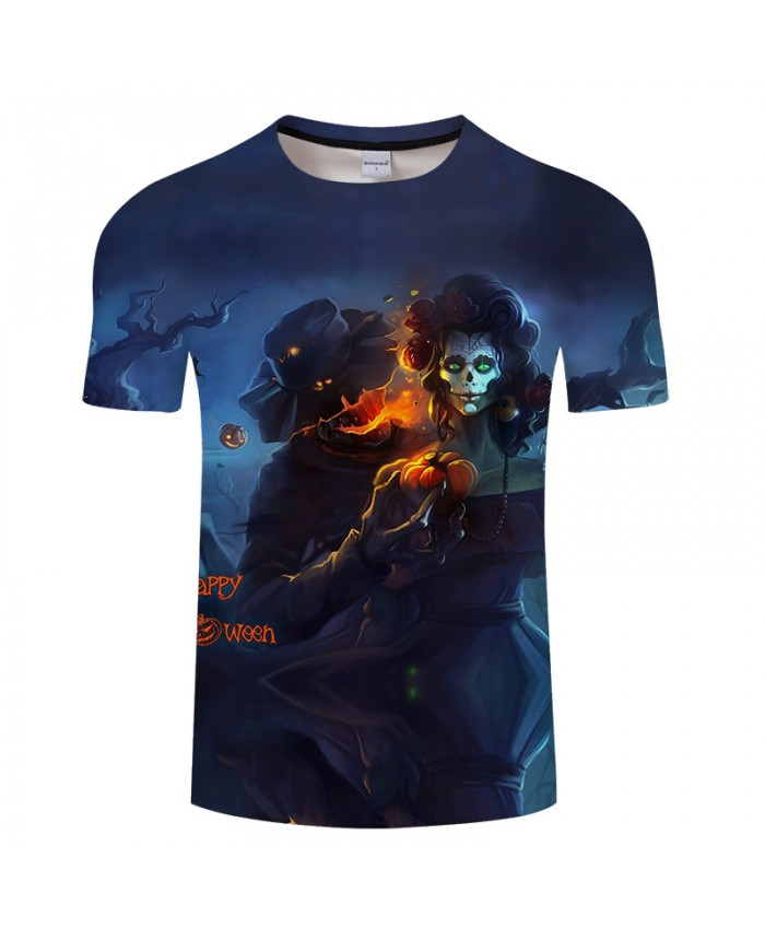 Halloween Witch 3D Print T shirts Men T-shirts Brand Top Tees Streetwear Summer Short Sleeve tshirt O-neck Drop Ship