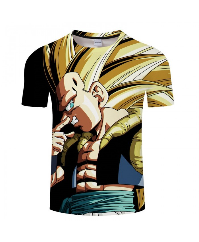 Hand Covering The Nose Cartoon Goku Dragon Ball 3D Print Men tshirt Anime Casual Short Sleeve Male O-neck Drop Ship