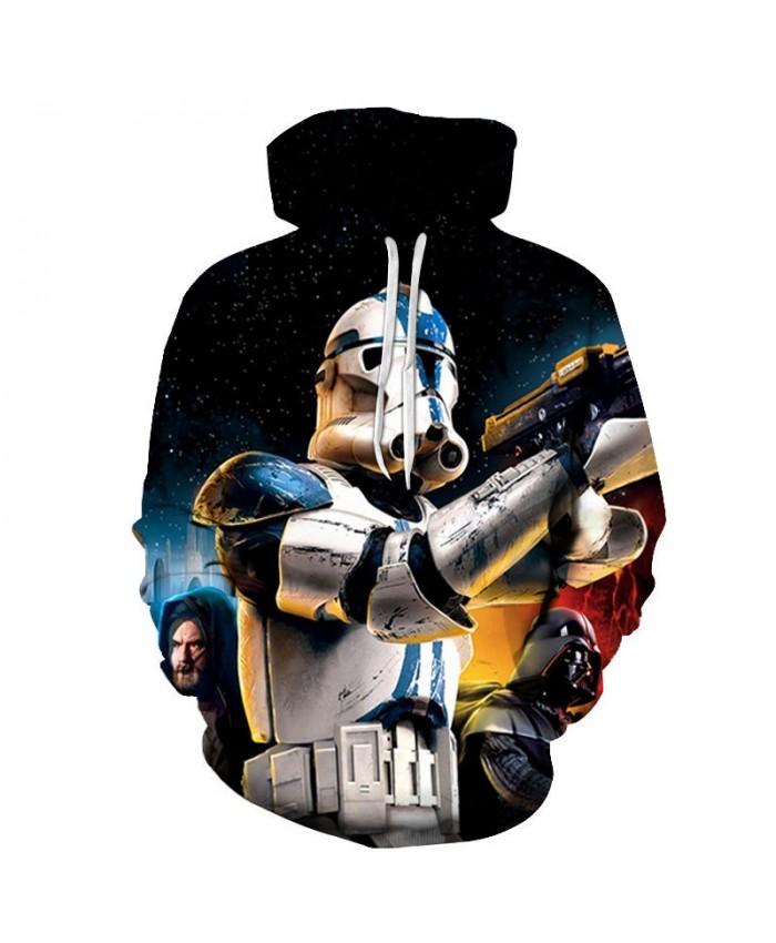Hand Gun Star Wars 3D Printed Mens Pullover Sweatshirt Clothing for Men Custom Pullover Hoodie Casual 2021 Drop Ship