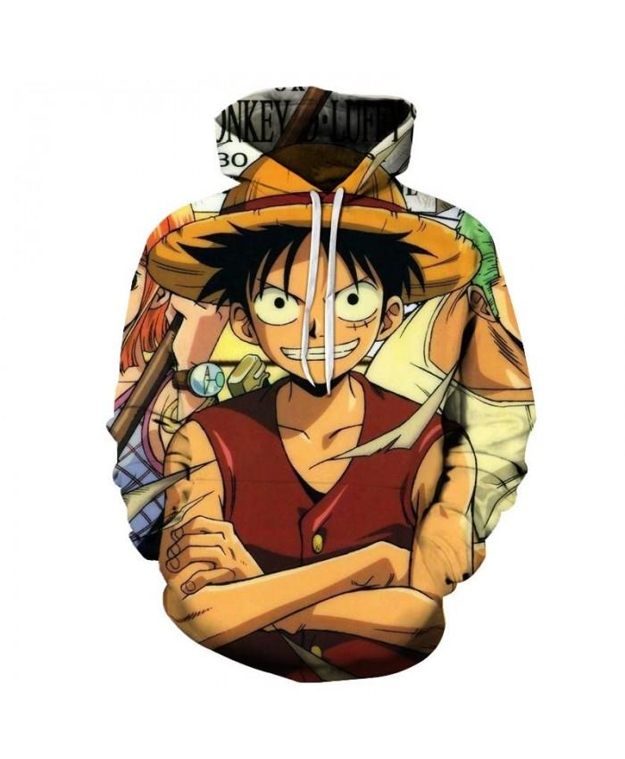 Hand In Hand One Piece 3D Hoodies Mens Pullover Sweatshirt Fashion Men Hoodies Pullover Tracksuits Anime Hoodie Men