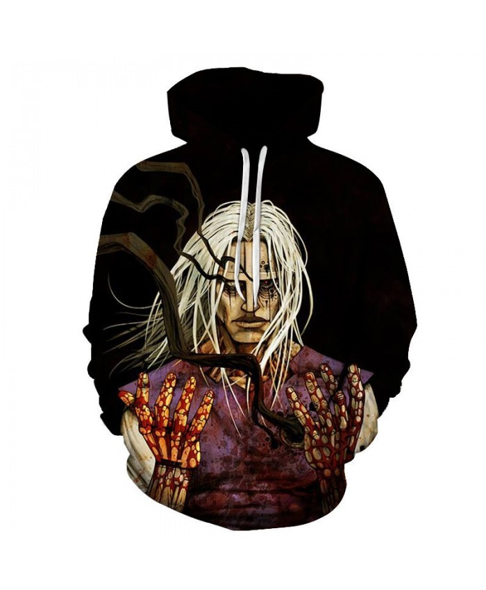 Hands Covered With Blood 3D Print Men Pullover Sweatshirt Clothing Pullover Hoodie Streetwear Sweatshirt Casual Men