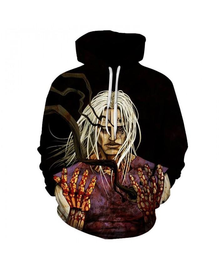 Hands Covered With Blood 3D Print Men Pullover Sweatshirt Clothing Pullover Hoodie Streetwear Sweatshirt Casual Men