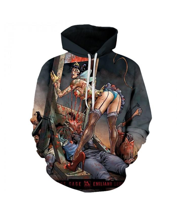 Hanging Men 3D Print Hoodies Men Hoody Harajuku Hoodie Streatwear Sweatshirt Tracksuit Pullover Coat Hip Hop Dropship