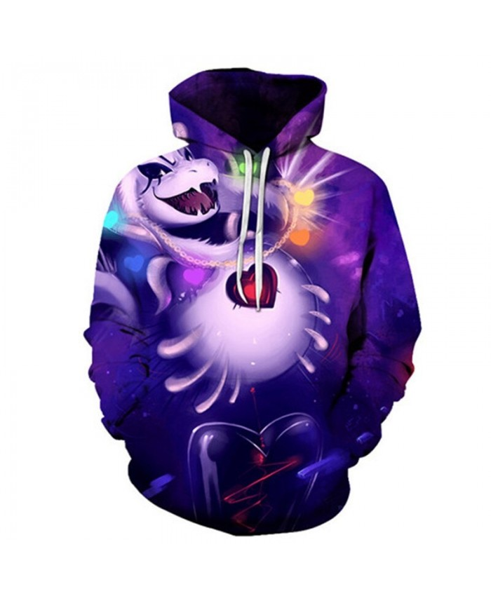 Happy Animals Undertale 3D Print Mens Pullover Sweatshirt Fashion Casual Quality Men Hoodies Custom Pullover Hoodie