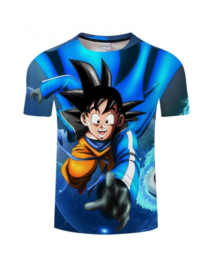 Happy Expression Cartoon Goku 3D Print Men Dragon Ball tshirt Anime Casual Summer Short Sleeve Male O-neck Drop Ship