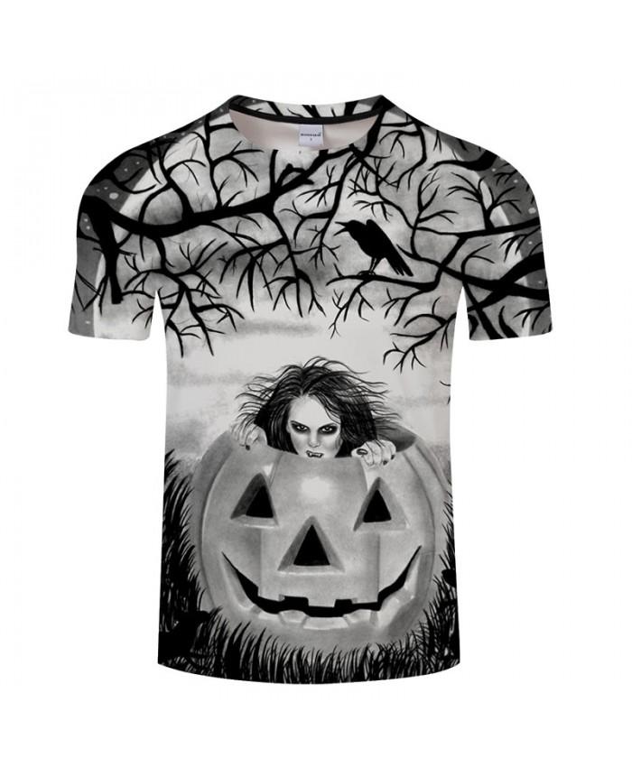 Happy Halloween 3D Print T shirts Men T-shirts Brand Tops Tee Streetwear Summer Short Sleeve tshirt O-neck Drop Ship