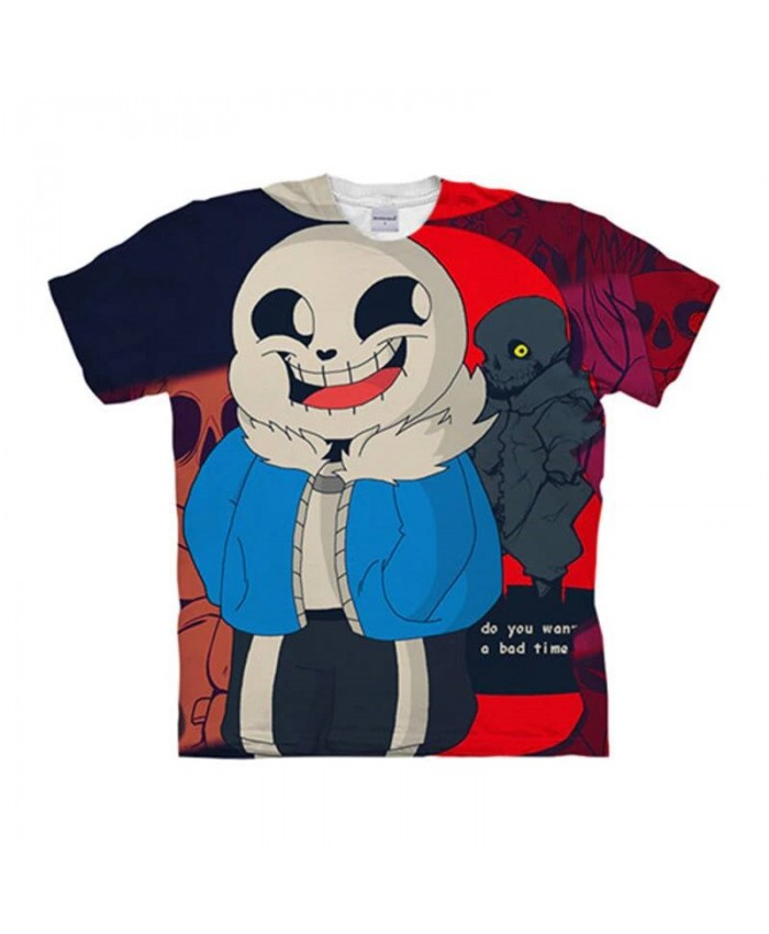 Happy Smile Undertale 3D Print Men Anime tshirt Crossfit Shirt Casual Short Sleeve Male T Shirt Men Brand O-neck