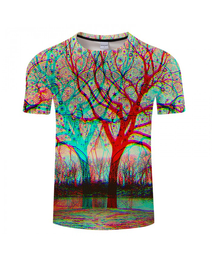 Happy Tree 3D Print t shirts Men Women tshirt Summer Cartoon Short Sleeve O-neck Tops&Tees 2021 Bright Hot Drop Ship