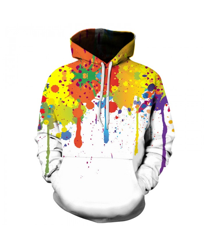 Harajuku 3D Printed watercolor Graffiti Men Hoodie Sweatshirts Full Sleeve With Pocket Sportswear Loose Casual Tracksuirts