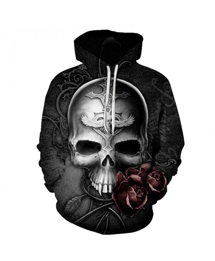 Harajuku Men hoodies Fashion Mens Hoodie Streetwear Popular Casual Long Skull Anime Sweatshirts