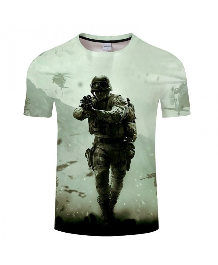 Harajuku Men t-shirt Anime Soldier Print Tees Short Pullovers Casual Male t shirts Brand t shirt Sweatshirts Tops