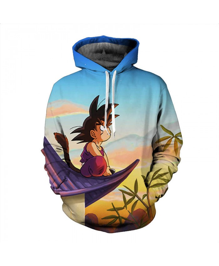 Harajuku Style Anime Dragon Ball Z Pocket Hooded Sweatshirts 3D Super Saiyan Hero Vegeta Hoodies Pullovers Young Man Outerwear