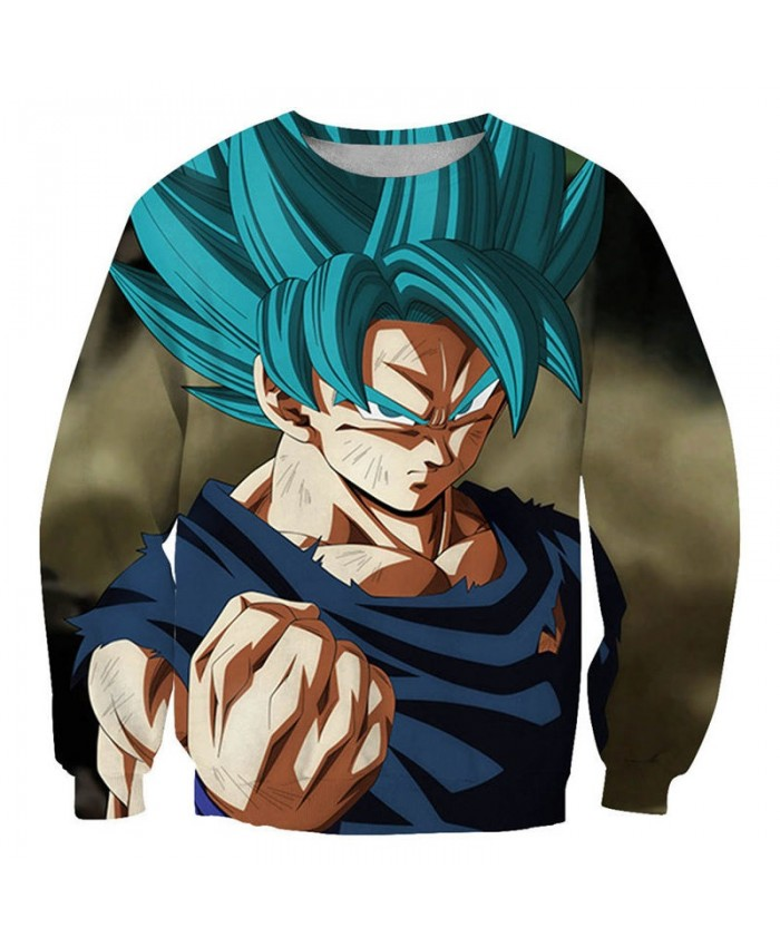 Hard Fist Dragon Ball 3D Printed Mens No Cap Pullover Sweatshirt Pullover Men Casual Streetwear Sweatshirt Clothes