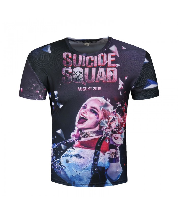 Harley Quinn Joker T-shirts 3d Men T shirts Suicide Squade Funny Summer Movie Cool T shirt Skateboard Camisetas 2018
