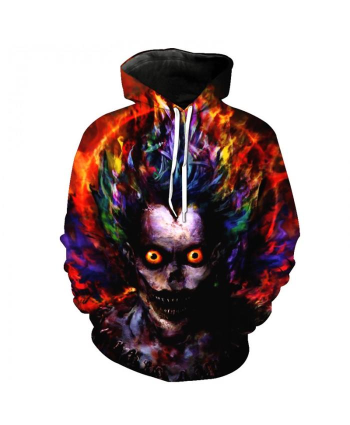 Hip Hop Street Hoodie Rainbow Zombie Sweatshirt Pullover Tracksuit Pullover Hooded Sweatshirt