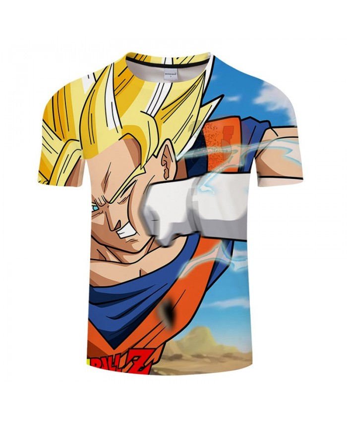 Hit The Face Goku Contradict Dragon Ball 3D Print Men tshirt Anime Casual Summer tshirt Short Sleeve Male Drop Ship