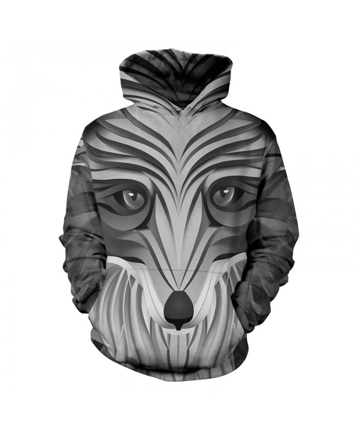 Hoodies Hand Painted Wolf 3d Print Animal Wolf Thin Men's Hoody Sweatshirt Fashion Hip Hop Unisex Pullover With Big Pockets Tops