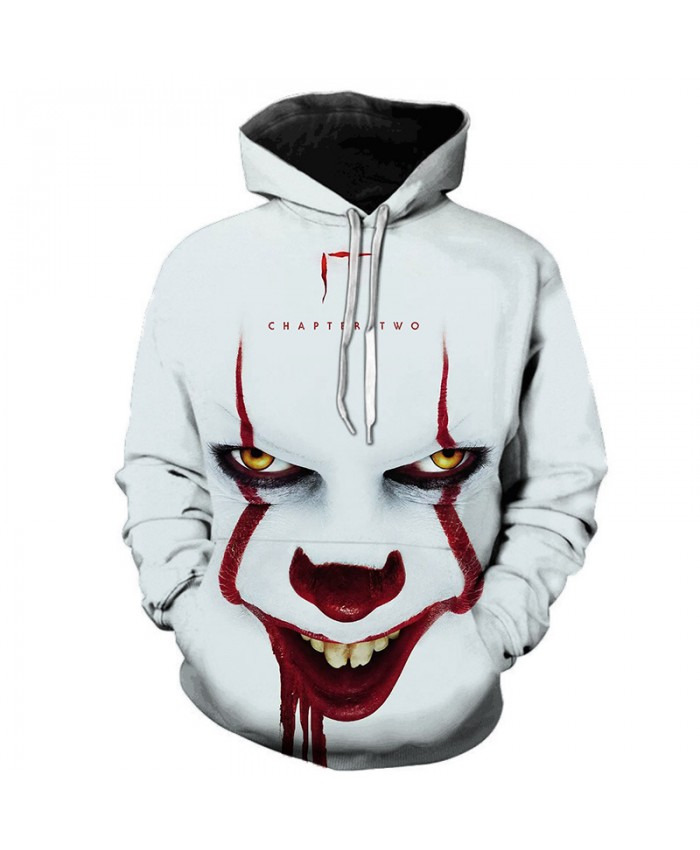 Horror Movie IT Clown 3D Printed Hoodie Sweatshirts Men Women Freddy Jason Film Pullover Tops Hip Hop Casual Oversized Hoodies
