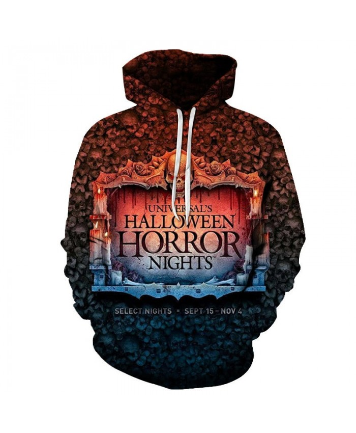 Horror Nights 3D Printed Men Pullover Sweatshirt Clothing for Men Custom Pullover Hoodie Streetwear Sweatshirt