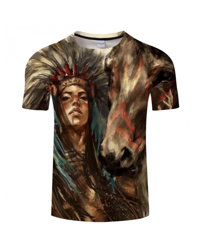 Horse 3D t shirt Men tshirts Male T-Shirt Summer Tops Casual Short Sleeve Tees Personality Vintage Camiseta DropShip