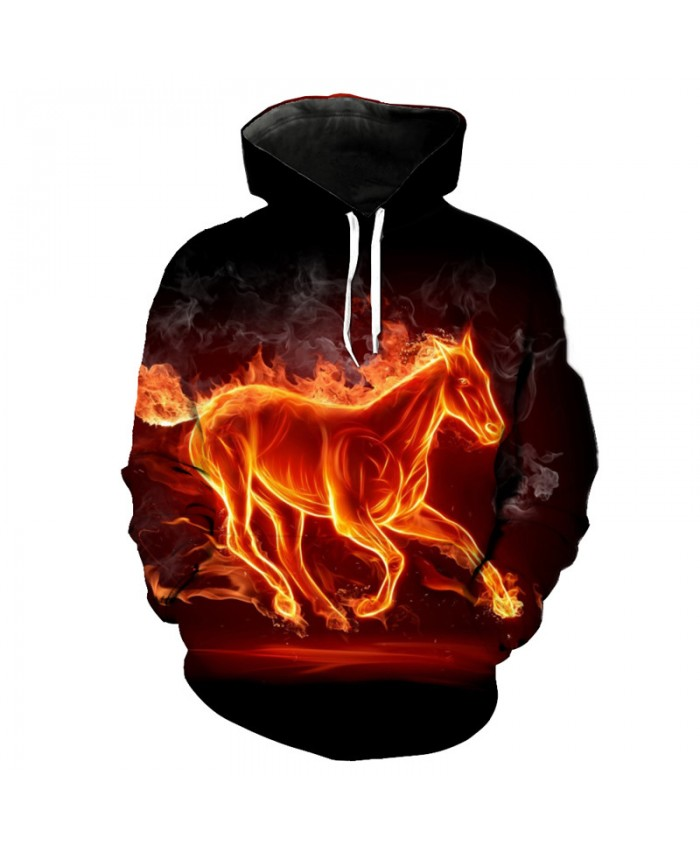 Horse Style Fashion Hooded Sweatshirt High-quality Pullover Casual Hoodie Autumn Tracksuit Pullover Hooded Sweatshirt