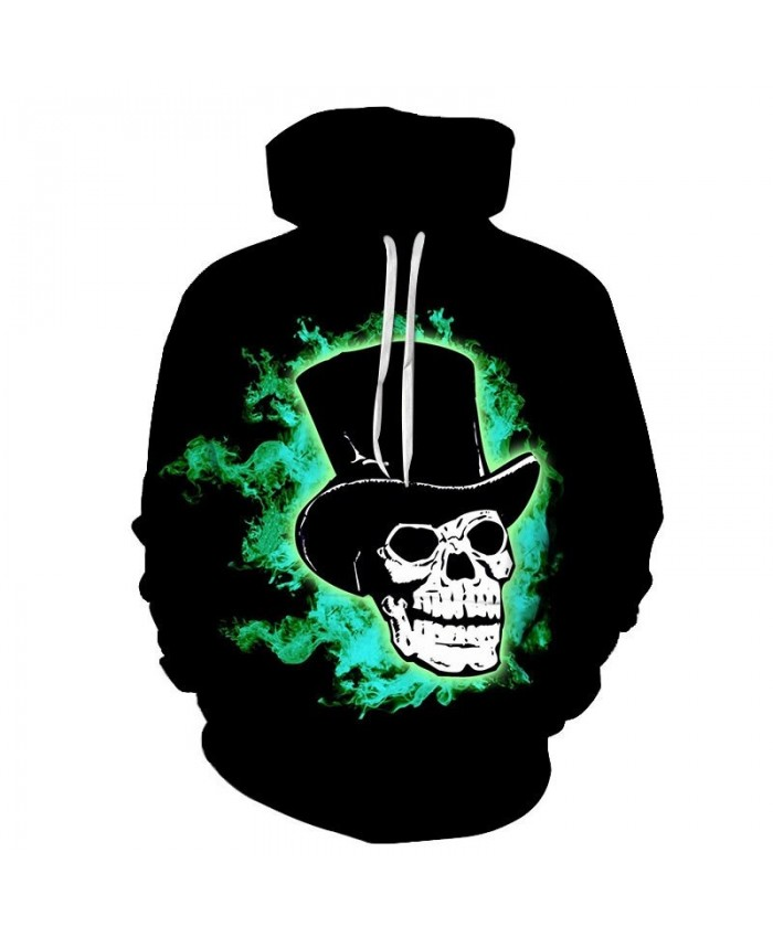 Hot Black Mens Hoodie Fashion Brand Hoodies Skull Men Casual Harajuku Sweatshirt Long Sleeve Anime Tops Sudadera