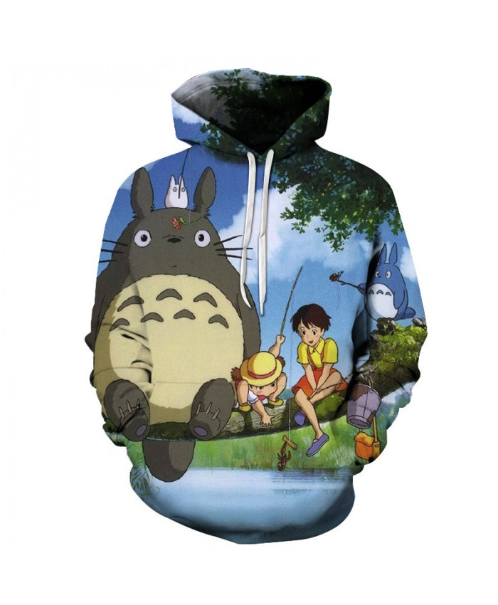 Hot Sale 3D Hoodie Unisex Totoro Hoodie Sweatshirts Men Women Pullover Fashion Tracksuits Brand Sweatshirt Drop Ship