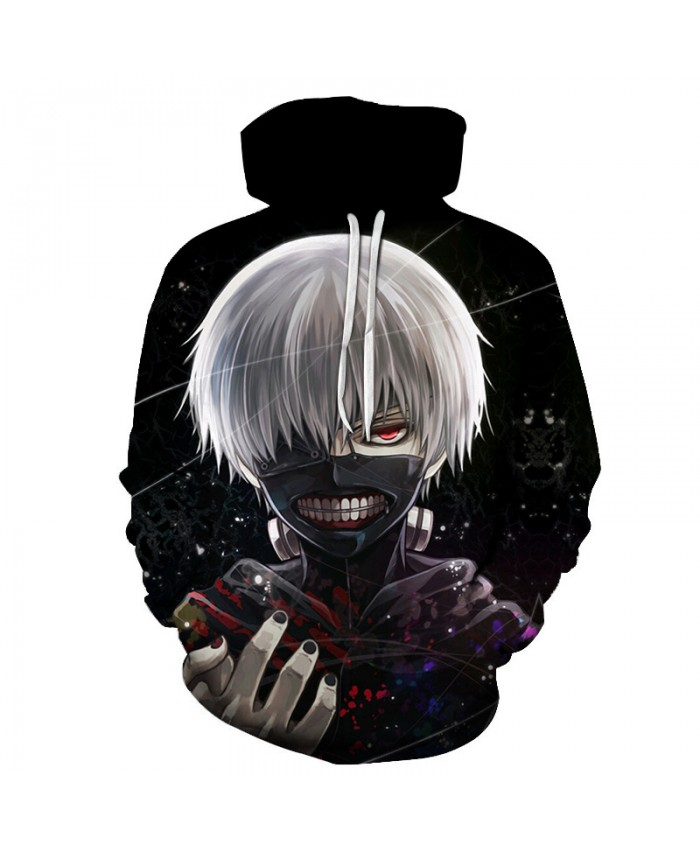 Hot Sale Anime Tokyo Ghoul 3D Hoodies Men Women Hooded Sweatshits Drop Ship Hip Hop Hoodie Brand Tracksuits 2019 Streetwear Coat