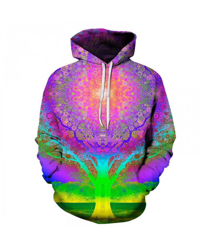 Hot Sale Colorful Tree 3D Printed Hoodies Men Women 3d Sweatshirt Brand Pullover Unisex Tracksuits Boy Jackets Male Coat Outwear