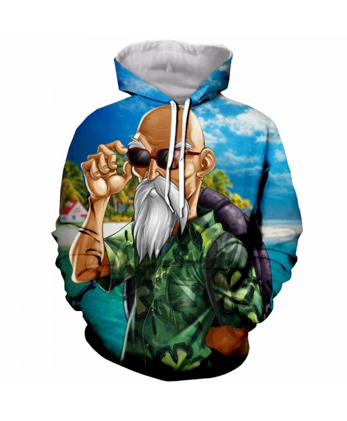 Hot Sale Dragon Ball Super Saiyan Hooded Sweatshirt Men Women Hoodie Sweatshirt Anime Roshi Master Print 3D fashion Hoodies