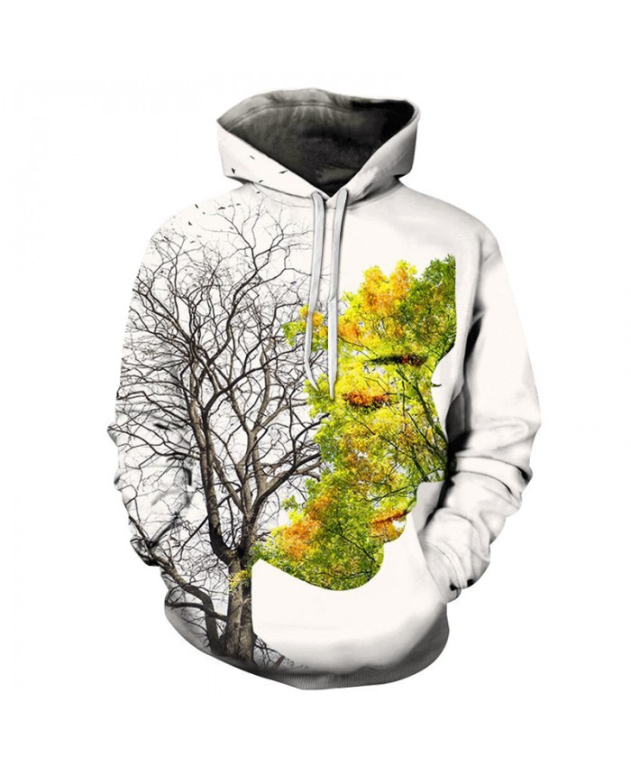 Hot Sale Women Tree Print Hoodies Quality 3D Unisex Sweatshrit Hooded Tracksuit Male Pullover Casual Streetwear