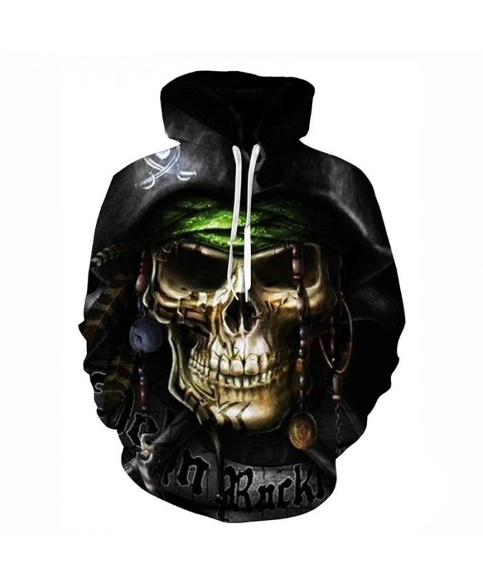 Hot hoody Men&Women Hoodies Couples Casual skull Style 3D captain Print Personality Autumn Winter Sweatshirts Hoody Tracksuits Tops