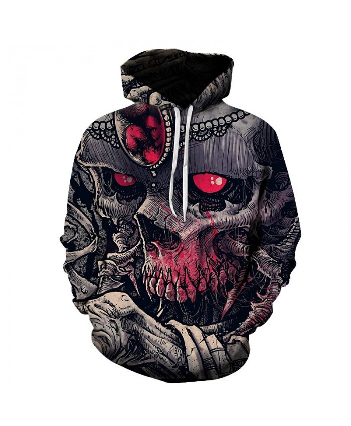 Hot sale Skull red eyes print Autumn Bodybuilding Hoodies Sweatshirts Gyms Clothes Tracksuit Pullover Jacket Long sleeves Hoodie