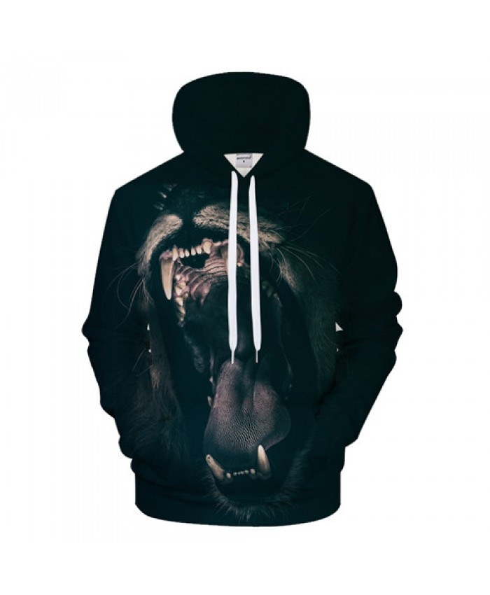 Howling Lion Hoodies Men Sweatshirt 3D Hoody Casual Tracksuit Anime Hooded Pullover Coat Harajuku Clothes Drop Ship