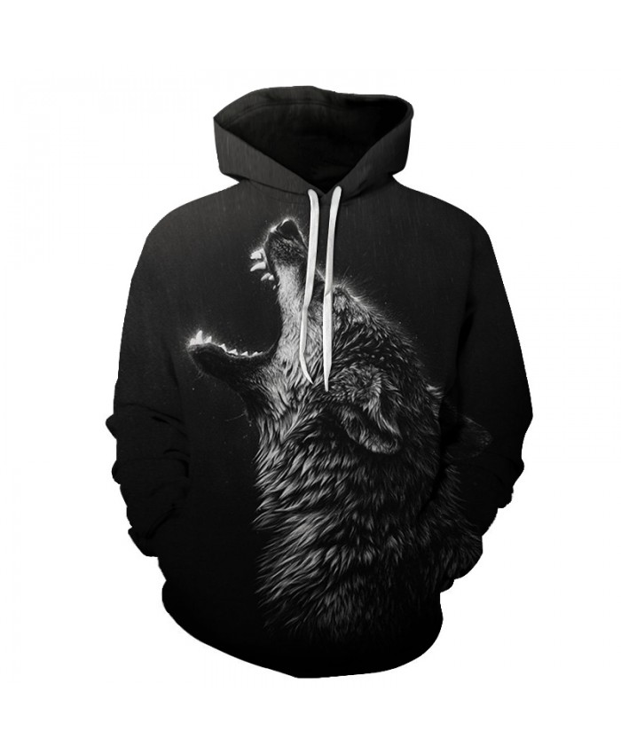 Howling Rain Wolf Hoodies Men 3D Sweatshirts Brand Hooded Pullover Male Tracksuits Unisex 6XL Quality Boy Jacket Fashion Outwear