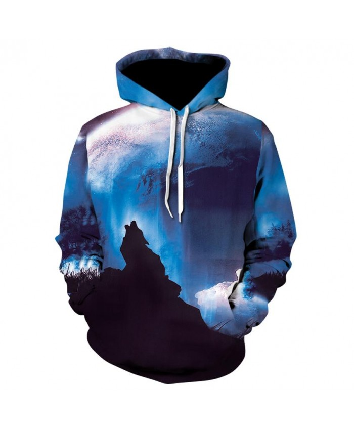 Howling Wolf Hoodies Hoodie Men Women Hip Hop Autumn Winter Hoody Tops Casual Brand 3D Wolf Hoodie Sweatshirt Dropship