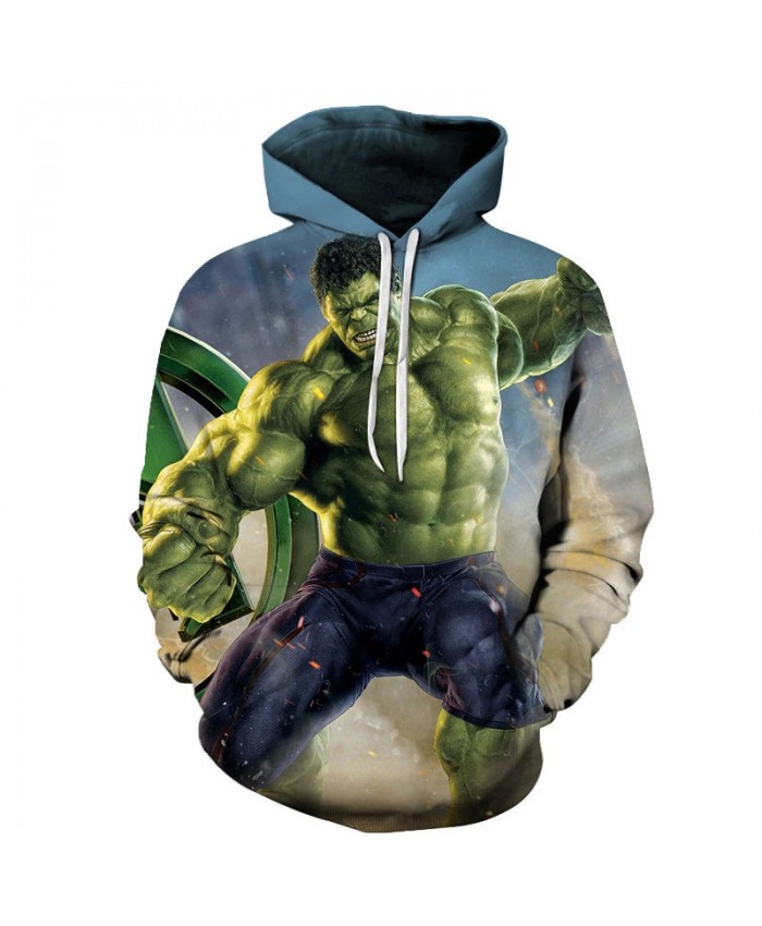 Hulk 3D Print Hoodie Mens Pullover Sweatshirt Marvel Men's Hoodie Casual Sweatshirt Avengers End Game Fashion Men Hoodies