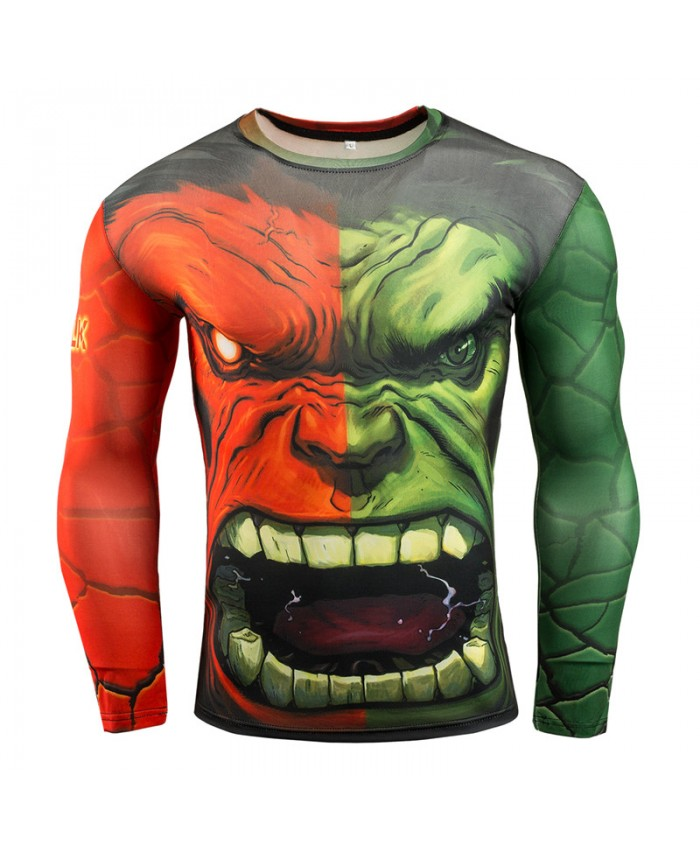 Hulk Mens T shirts 3D Long Sleeve Tees