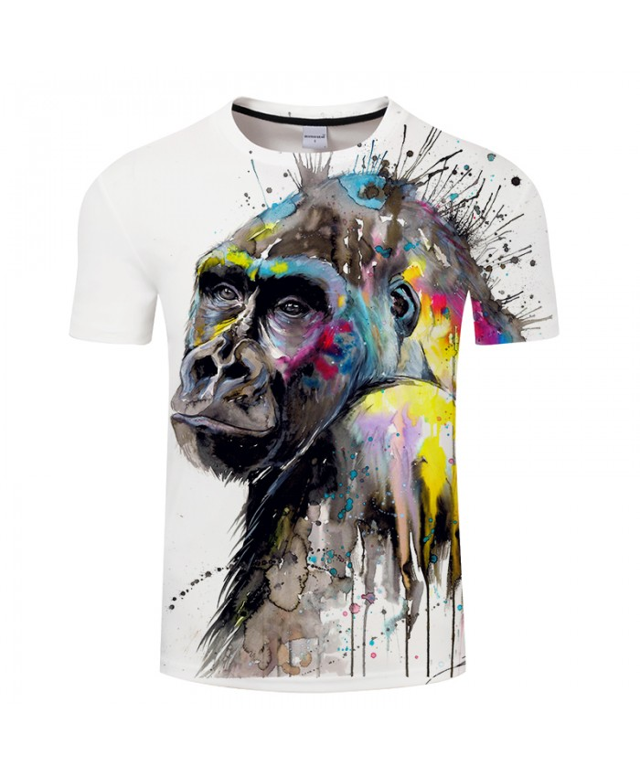 I see the future by Pixie cold Art T shirts 3D Men T-shirts Monkey Printed Animal Tops Brand Tshirts Fashion 3D Camiseta