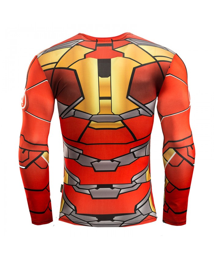 Iron man compression shirt for men t shirts 3d long sleeve for Iron man shirt for men
