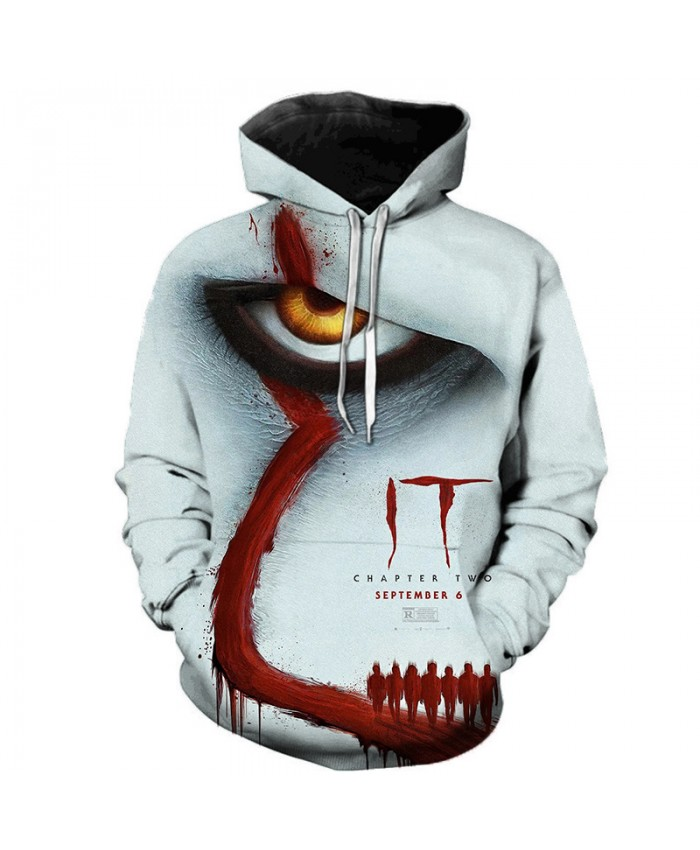 IT Chapter Two 3D Printed Hoodie Sweatshirts Men Women Clown Thriller Terrorist Movie Pullover Hip Hop Casual Oversized Hoodies