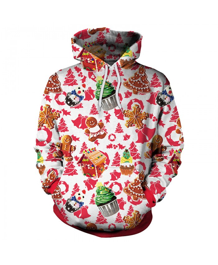 Ice Cream Gift Christmas Sweater Unisex Men Women Vacation Santa Elf Pullover Funny Sweaters Tops Autumn Winter Clothing