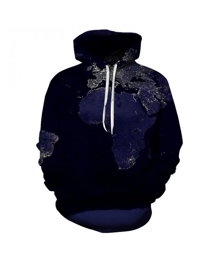 Ice Map 3D Printed Men Pullover Sweatshirt Pullover Hoodie Casual Fashion Hoodies Men Streetwear Sweatshirt Hoodie