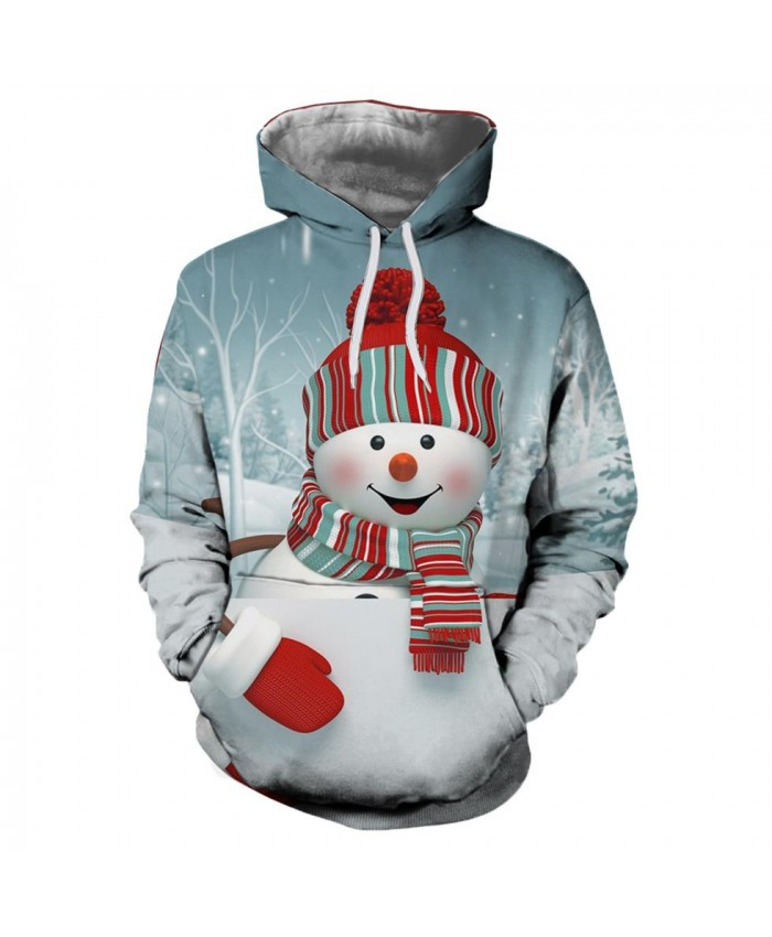 Ice Snow Christmas Christmas Hoodies 3d Sweatshirts Men&Women Hoodie Print Couple Tracksuit Autumn Winter Hooded Hoody Clothing