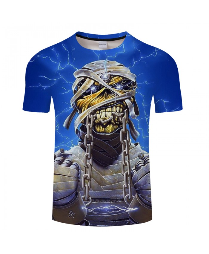 Imprison Iron Skull 3D Print t shirt Men Women tshirt Summer Funny Short Sleeve O-neck Tops&Tee Streetwear Drop Ship