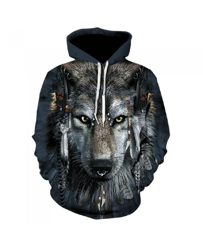 Indian Wolf Hoodie Hoodies Men Women 2019 New Fashion Spring Autumn Pullover Sweatshirts Sweat Homme 3D Tracksuit