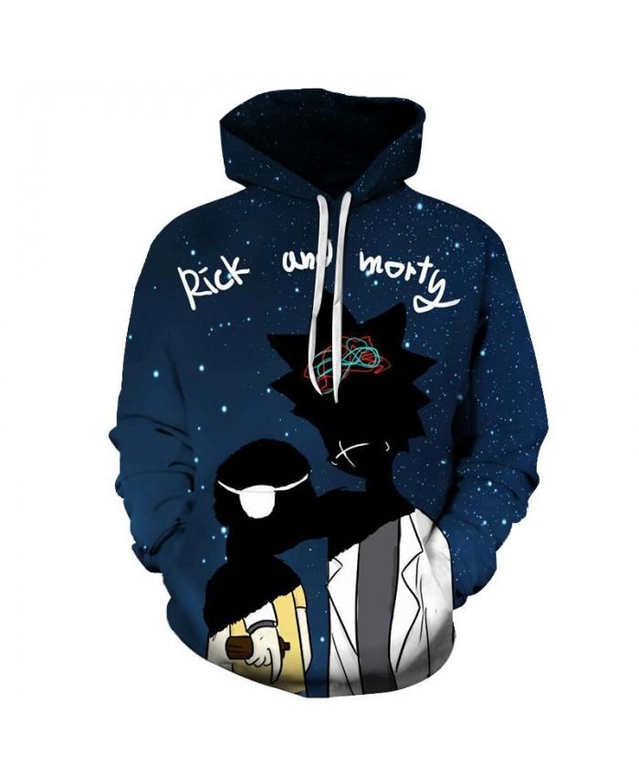 Injured Rick And Morty 3D Print Men Pullover Sweatshirt Mens Custom Pullover Hoodie Streetwear Sweatshirt Casual