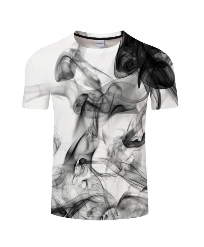 Ink Digital 3D Print t shirt Men Women tshirt Summer Casual Short Sleeve O-neck Tops&Tees White 2021 Art Drop Ship