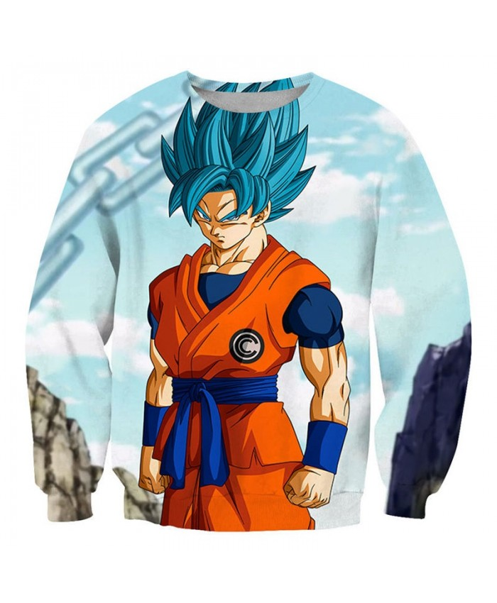 Iron Chain Dragon Ball 3D Print Mens No Cap Pullover Sweatshirt Pullover Casual Men Streetwear Sweatshirt Fashion